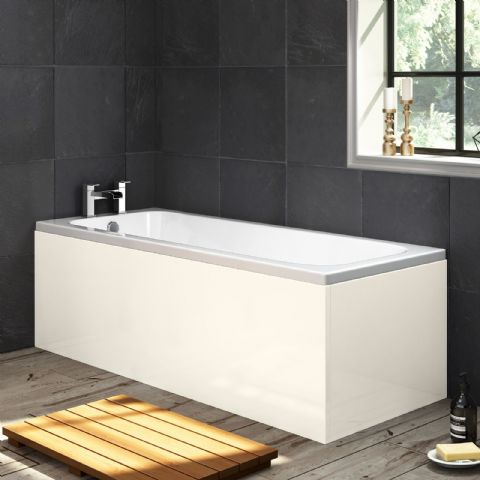 Luxury High Gloss Cream 1 Piece Bath Panels